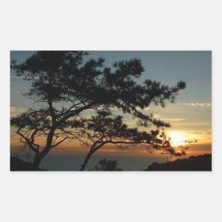 Sticker Rectangulaire Paysage du coucher du soleil I la Californie de