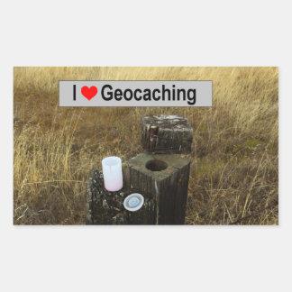 Sticker Rectangulaire Peau de courrier de barrière : Geocaching