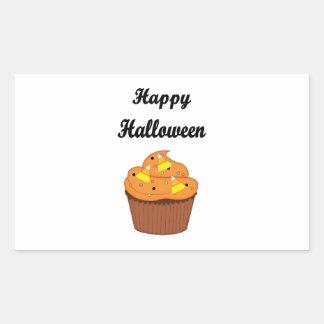 Sticker Rectangulaire Petit gâteau heureux de Halloween