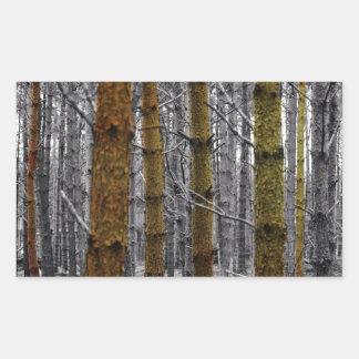 Sticker Rectangulaire Pins primitifs de camouflage de pays occidental