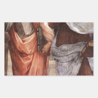 Sticker Rectangulaire Platon et Aristote