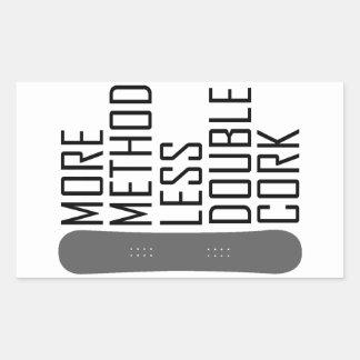 Sticker Rectangulaire Plus de méthode moins de double liège