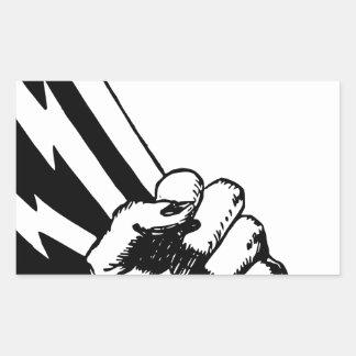 Sticker Rectangulaire Poing de puissance