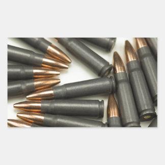 Sticker Rectangulaire point creux des munitions 7.62x39mm de munitions