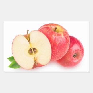 Sticker Rectangulaire Pommes rouges