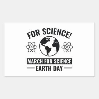 Sticker Rectangulaire Pour la Science !