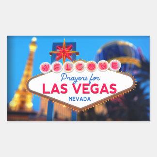 Sticker Rectangulaire Prières pour l'autocollant de Las Vegas
