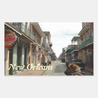 Sticker Rectangulaire Quartier français de la Nouvelle-Orléans
