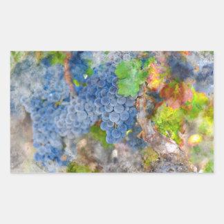 Sticker Rectangulaire Raisins sur la vigne pendant la saison d'automne