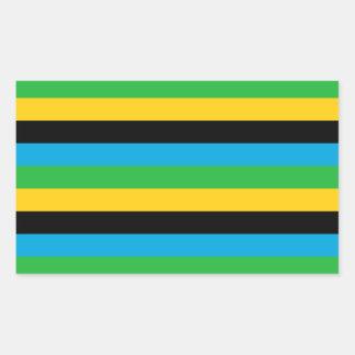 Sticker Rectangulaire Rayures de drapeau de la Tanzanie