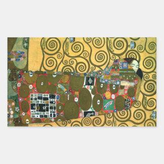 Sticker Rectangulaire Réalisation aka l'étreinte par Gustav Klimt