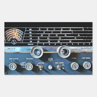 Sticker Rectangulaire Récepteur radioélectrique d'ondes courtes vintages