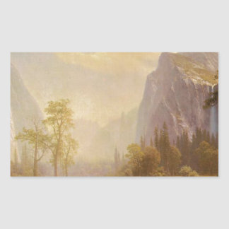 Sticker Rectangulaire Recherchant la vallée de Yosemite - Albert