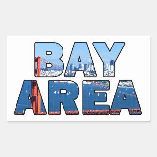 Sticker Rectangulaire Région de Baie de San Franciso