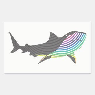 Sticker Rectangulaire Remous de requin de couleur