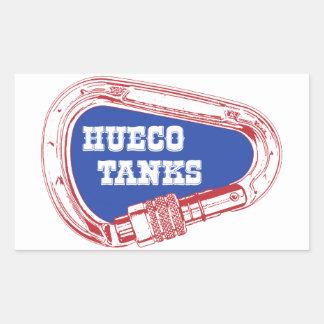 Sticker Rectangulaire Réservoirs Carabiner de Hueco