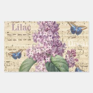 Sticker Rectangulaire Rêve lilas