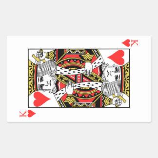 Sticker Rectangulaire Roi des coeurs