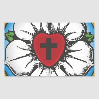 Sticker Rectangulaire rose de luther