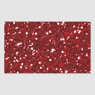 Sticker Rectangulaire rouge