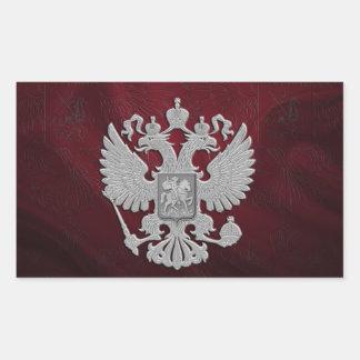 Sticker Rectangulaire Rouge russe de drapeau de symbole