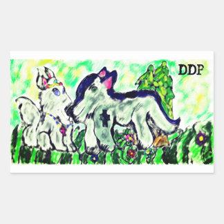 Sticker Rectangulaire Royaume de loups