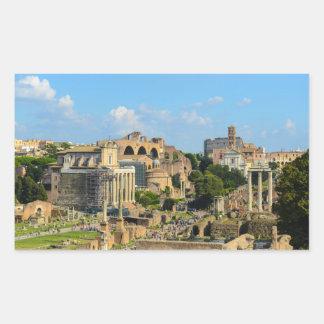 Sticker Rectangulaire Ruines romaines à Rome Italie