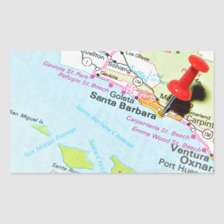 Sticker Rectangulaire Santa Barbara, la Californie