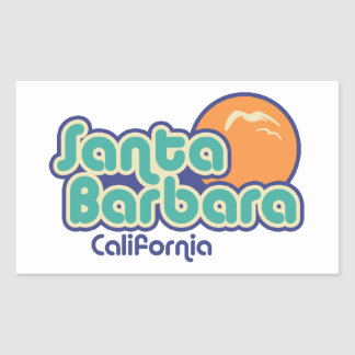 Sticker Rectangulaire Santa Barbara la Californie