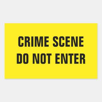 Sticker Rectangulaire Scène du crime