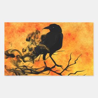 Sticker Rectangulaire Scène effrayante 11 de Halloween Raven