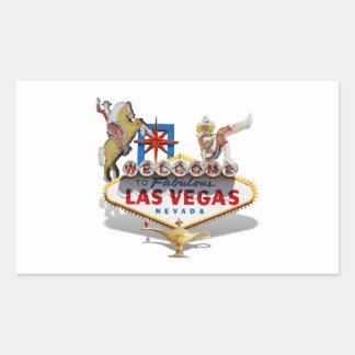 Sticker Rectangulaire Signe bienvenu de Las Vegas