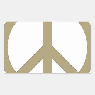 Sticker Rectangulaire Signe de paix