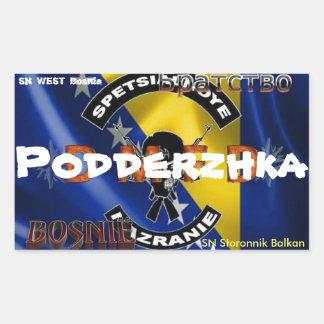 Sticker Rectangulaire SN Bosnie de soutien