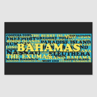 Sticker Rectangulaire Source de foule de mot des Bahamas
