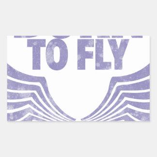 Sticker Rectangulaire Soutenu pour voler