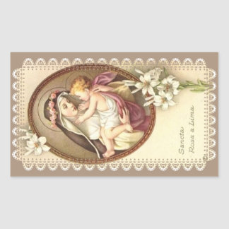 Sticker Rectangulaire St Rose de Lima