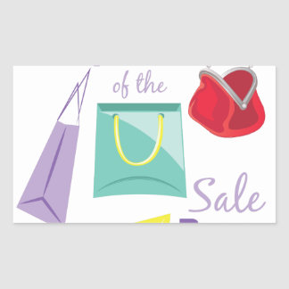 Sticker Rectangulaire Support de vente