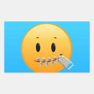 Sticker Rectangulaire Tirette Emoji