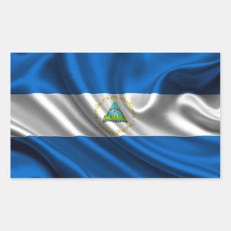 Sticker Rectangulaire Tissu de drapeau du Nicaragua