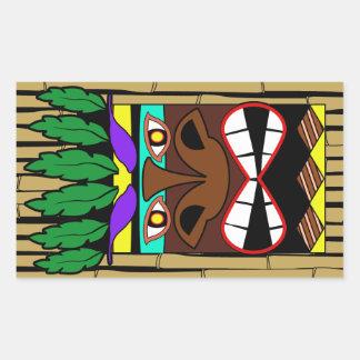 Sticker Rectangulaire Totem avec la partie en bambou de Luau