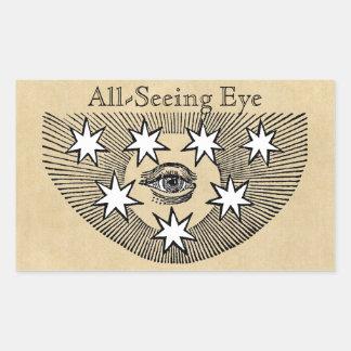 Sticker Rectangulaire Tout-Voyant l'oeil personnalisé
