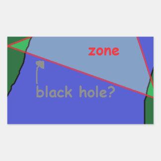 Sticker Rectangulaire Triangle des Bermudes : la théorie