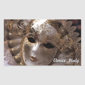Sticker Rectangulaire Venise, Italie (IT) - mascarade