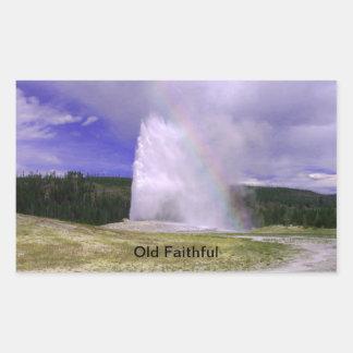 Sticker Rectangulaire Vieux fidèle en parc national de Yellowstone