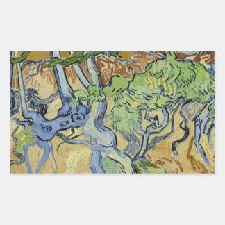 Sticker Rectangulaire Vincent van Gogh - Arbre-racines