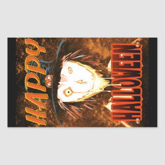 Sticker Rectangulaire Visage heureux JIM