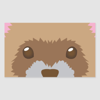 Sticker Rectangulaire visage mignon de furet