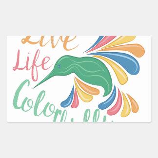 Sticker Rectangulaire Vivez coloré