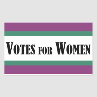Sticker Rectangulaire Votes de suffragette pour l'autocollant